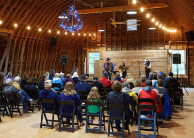 Music concert: The Tallgrass Express String Band in the loft of the white barn