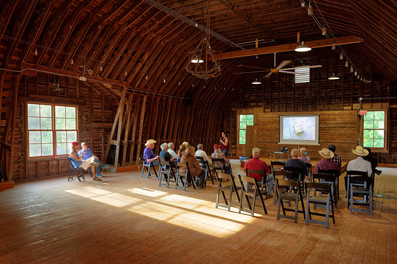 Prairie talk on the upper level of the barn