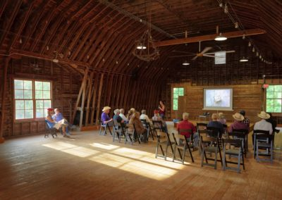 Prairie talk in the loft of the white barn
