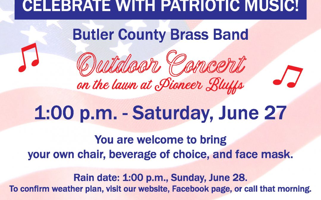 Patriotic music on the lawn