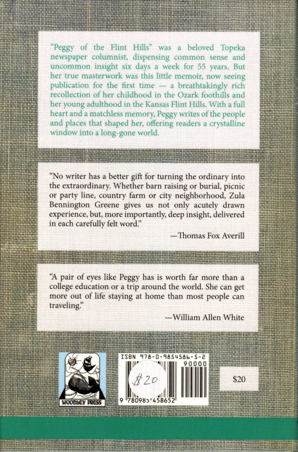 Peggy of the Flint Hills back cover