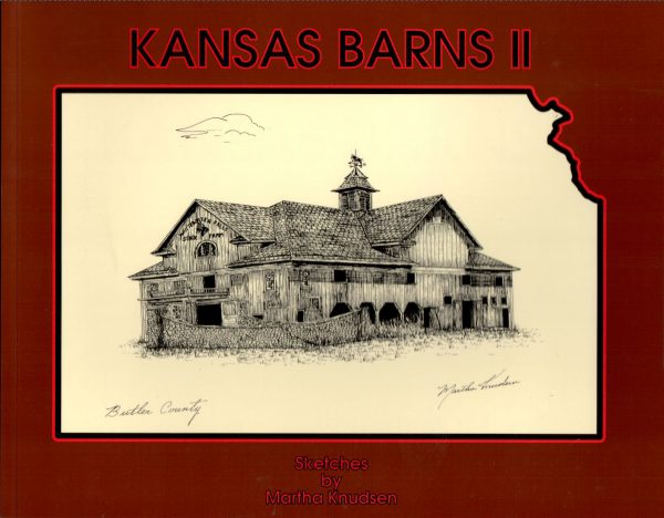 Front cover of book showing drawing of barn