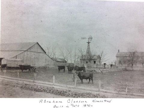 Historic photo of Claassen homestead